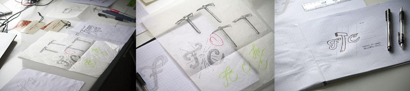 Brand Identity Design Process Sketches