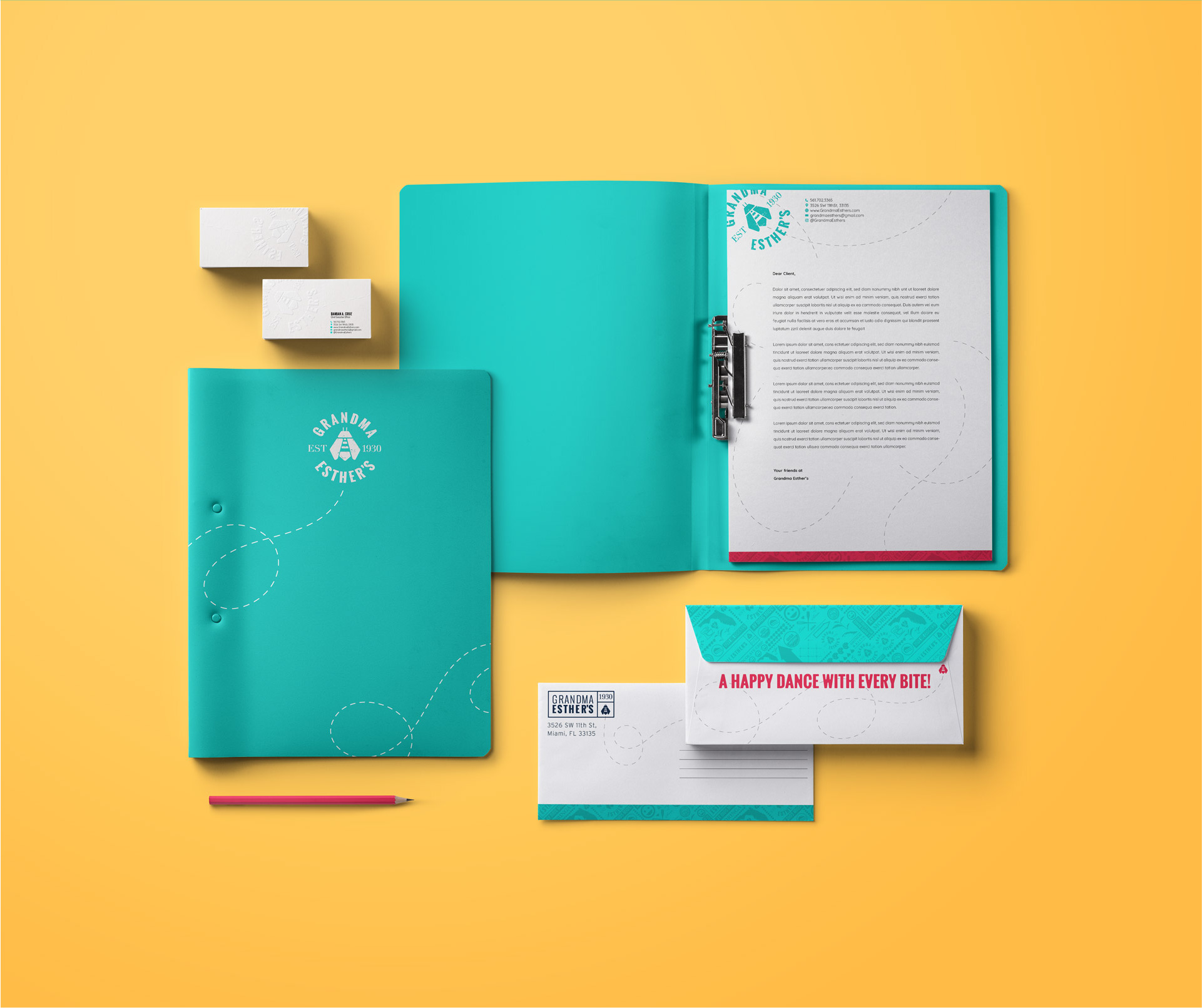 Organic Brand Collateral for Identity design.